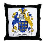 Baltazar Family Crest  Throw Pillow