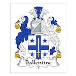 Ballentine Family Crest Small Poster