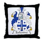 Ballentine Family Crest Throw Pillow