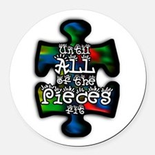 Cute Autism Round Car Magnet