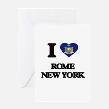 I love Rome New York Greeting Cards