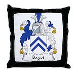 Bagot Family Crest Throw Pillow
