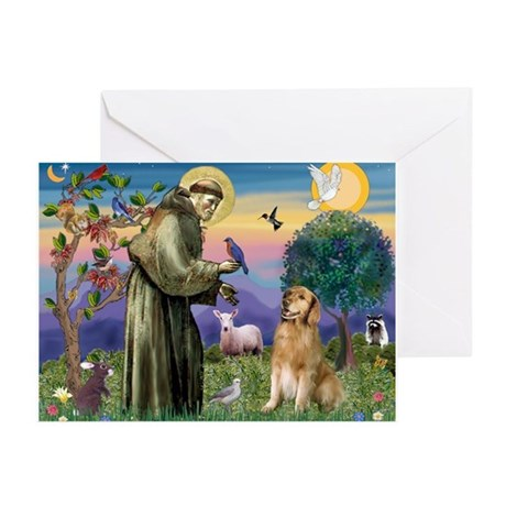 Saint Francis' Golden Greeting Cards (Pk of 20)