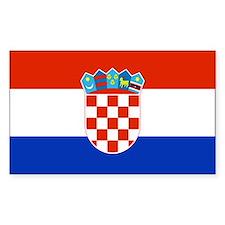 Croatian Flag Rectangle Decal