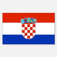 Croatian Flag Rectangle Decal