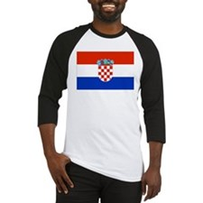 Croatian Flag Baseball Jersey