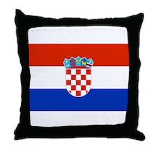 Croatian Flag Throw Pillow