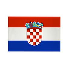Croatian Flag Rectangle Magnet