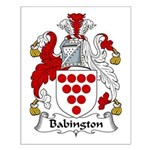 Babington Family Crest  Small Poster