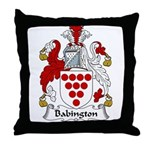 Babington Family Crest  Throw Pillow