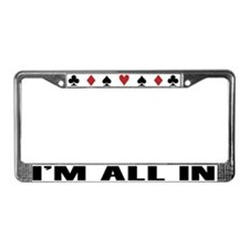 Funny Poker License Plate Frame