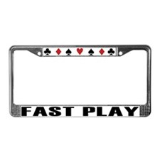 Cute Poker License Plate Frame