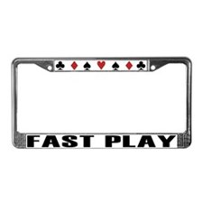 Unique Texas holdem License Plate Frame