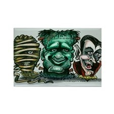 Funny Halloween frankenstein Rectangle Magnet