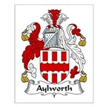 Aylworth Family Crest Small Poster