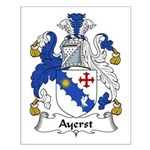Ayerst Family Crest Small Poster