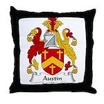 Austin Family Crest Throw Pillow