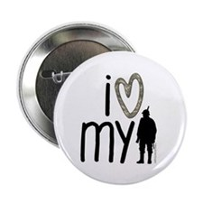 """I Heart My Soldier 2.25"""" Button (100 pack)"""