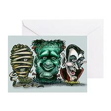Cute Halloween frankenstein Greeting Cards (Pk of 20)