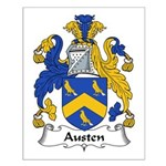 Austen Family Crest Small Poster