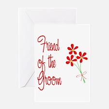 Bouquet Groom's Friend Greeting Card