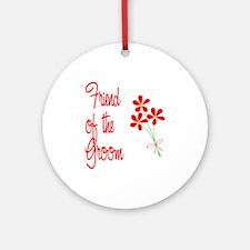 Bouquet Groom's Friend Ornament (Round)