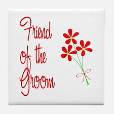 Bouquet Groom's Friend Tile Coaster