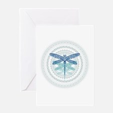 Dragonfly Blue Transformation Greeting Cards