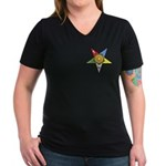 OES Associate Matron Women's V-Neck Dark T-Shirt