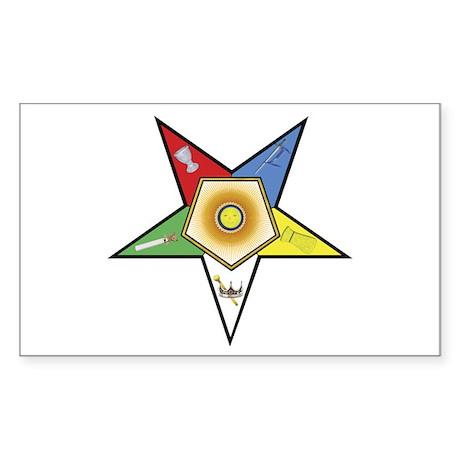 OES Associate Matron Rectangle Sticker