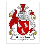 Atherton Family Crest  Small Poster