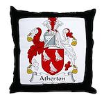 Atherton Family Crest  Throw Pillow