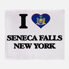 I love Seneca Falls New York Throw Blanket