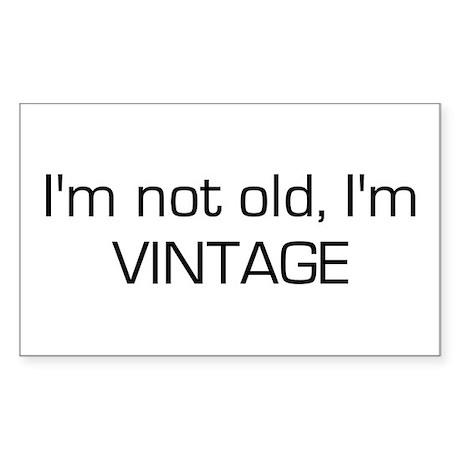 I'm Vintage Rectangle Sticker