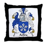 Astley Family Crest Throw Pillow