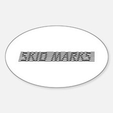 Skid Marks Oval Decal