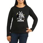 Ashe Family Crest Women's Long Sleeve Dark T-Shirt