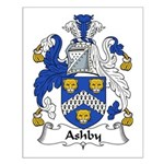 Ashby Family Crest  Small Poster