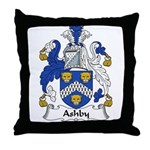 Ashby Family Crest  Throw Pillow