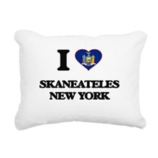 I love Skaneateles New Y Rectangular Canvas Pillow