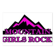 Mountain girls rock Postcards (Package of 8)