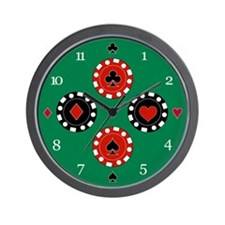 Chip Suits Wall Clock