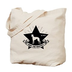 Obey the Whippet! logo Tote Bag
