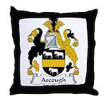 Ascough Family Crest  Throw Pillow