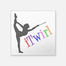 "iTWIRL Square Sticker 3"" x 3"""
