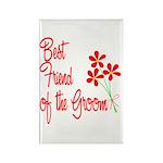 Bouquet Groom's Best Friend Rectangle Magnet (10 p