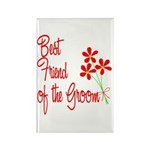 Bouquet Groom's Best Friend Rectangle Magnet (100
