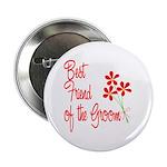 Bouquet Groom's Best Friend Button
