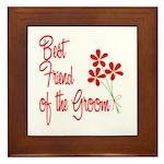 Bouquet Groom's Best Friend Framed Tile