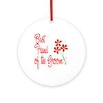 Bouquet Groom's Best Friend Ornament (Round)